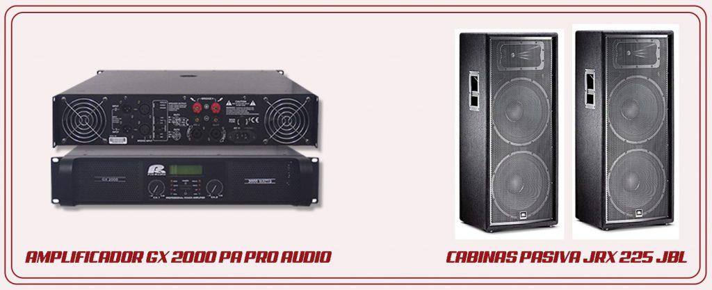 Equipo básico para amplificar Audio Luces