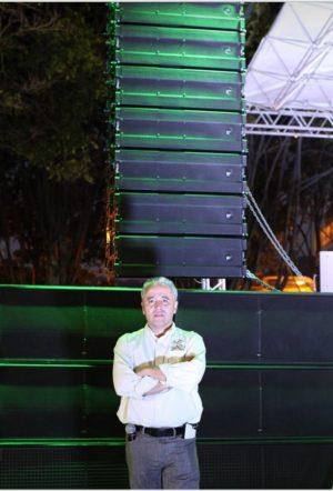 Ramón Franco, técnico D.A.S. Audio