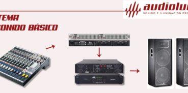 Sistema de sonido básico Audio Luces