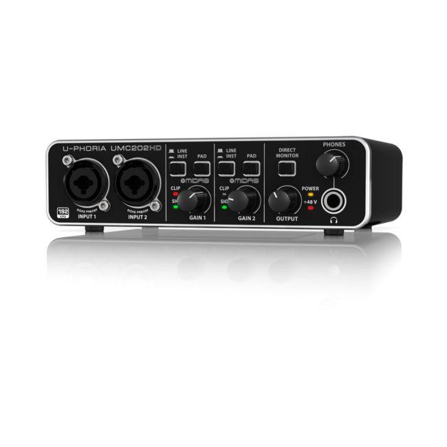 Interface de audio Behringer UMC 202HD 2x2