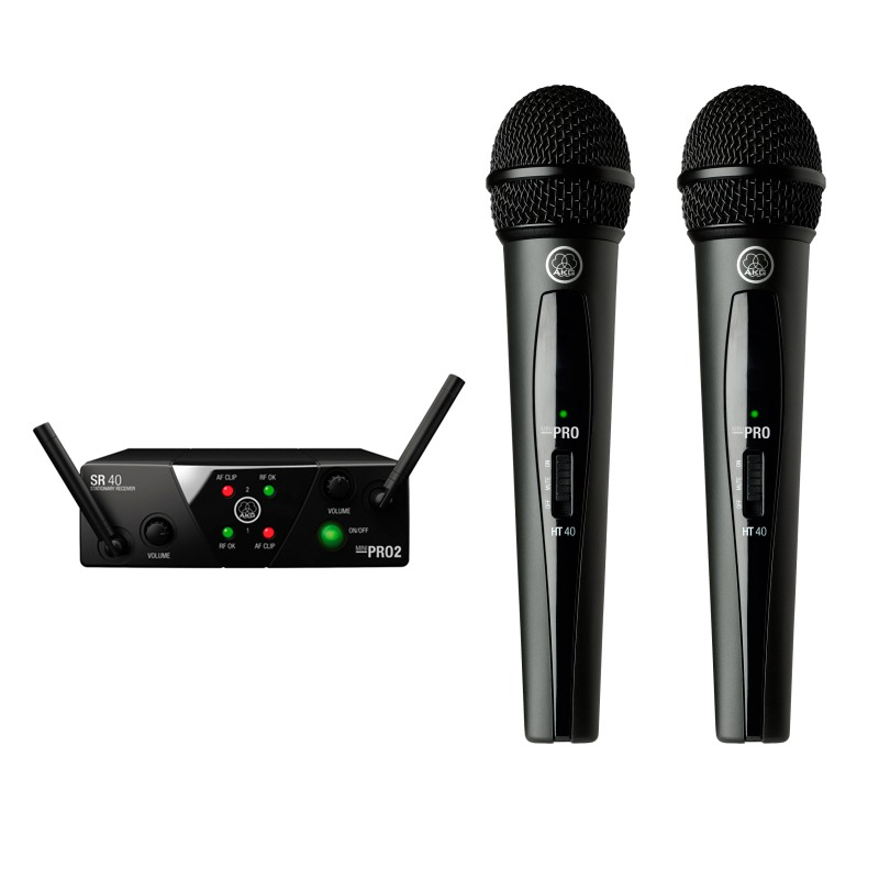 Micrófono inalámbrico doble AKG WMS40 Mini