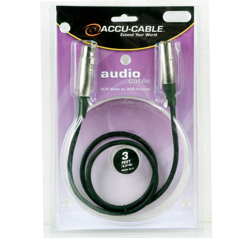 Cable para Micrófono XLR Accu-Cable XL-3 1Mt