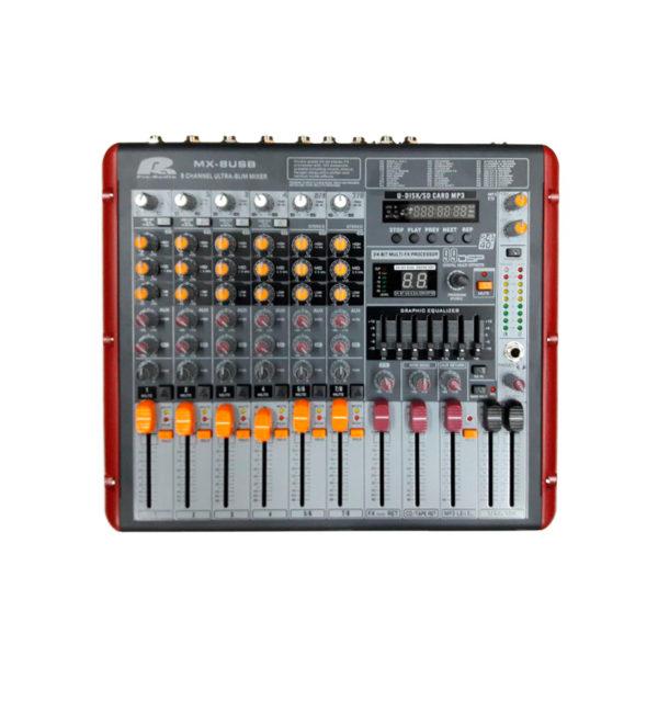 Consola Pa Pro Audio MX-8USB 8Ch 4Mic 2St