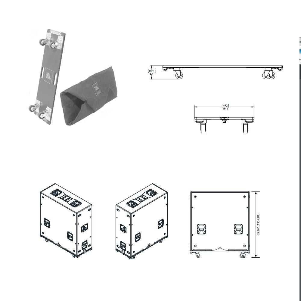 Plataforma Y Cobertor JBL Para Bajo VTX-G28