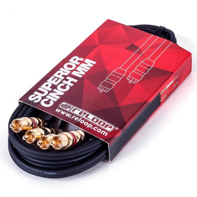 Cable RCA a RCA 3Mts Reloop Superior Cinch