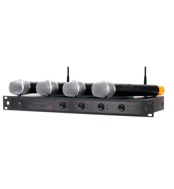 Set de 4 Micrófonos Inalámbricos