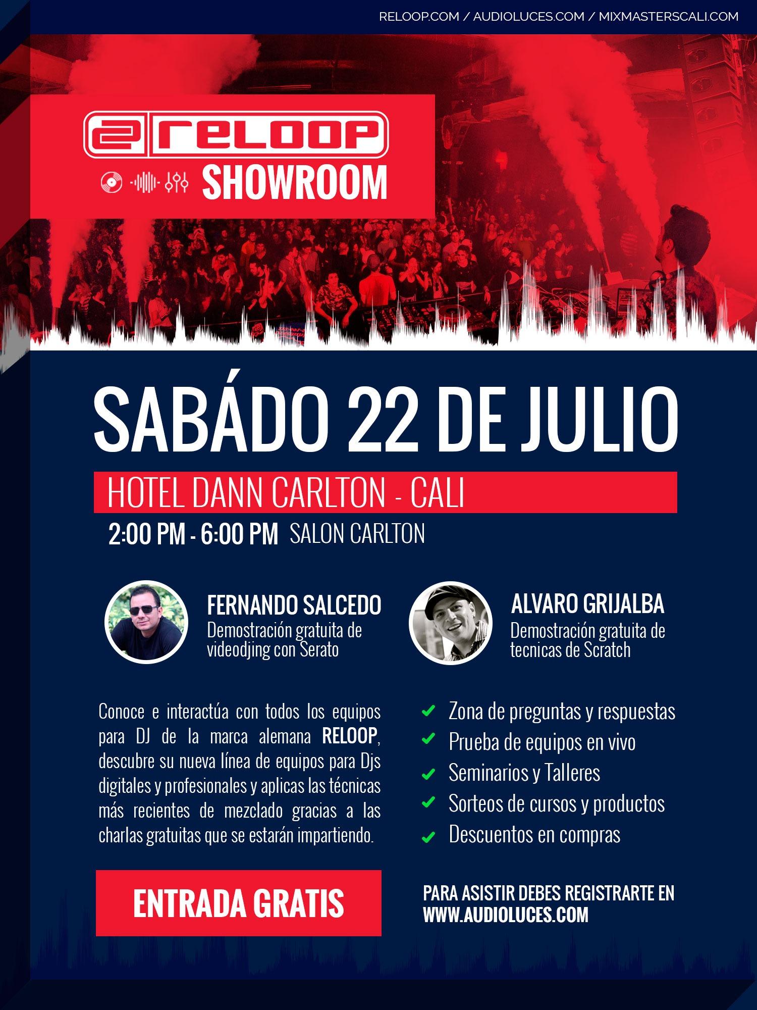 RELOOP SHOWROOM - 22 DE JULIO HOTEL DANN CARLTON