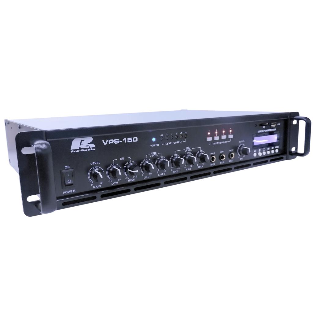 Amplificador De Linea Vps 150 Pa Pro Audio 150w Fm Usb Sd