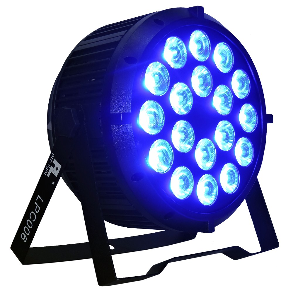 par led lpc006 pl pro light 18x15w 6en1 rgbwa uv audio luces. Black Bedroom Furniture Sets. Home Design Ideas