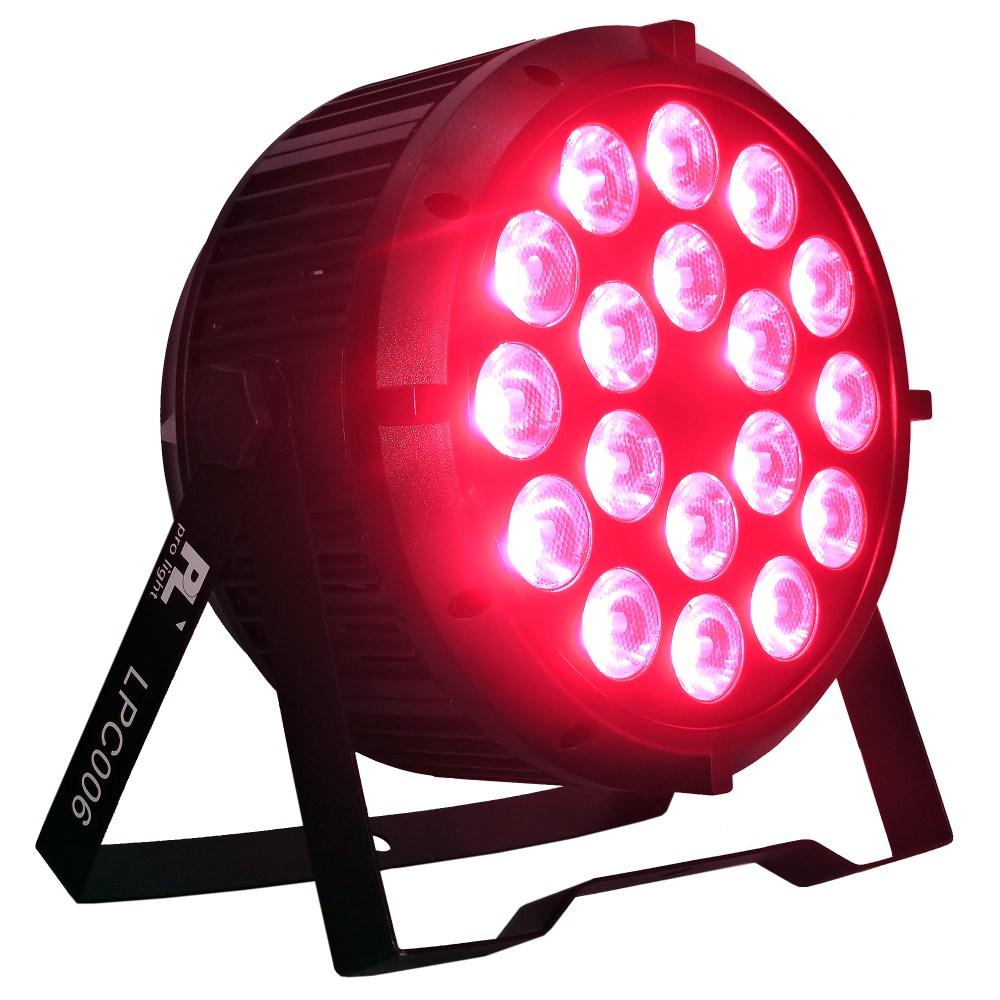 Par Led Lpc006 Pl Pro Light 18x15w 6en1 Rgbwa Uv Audio Luces