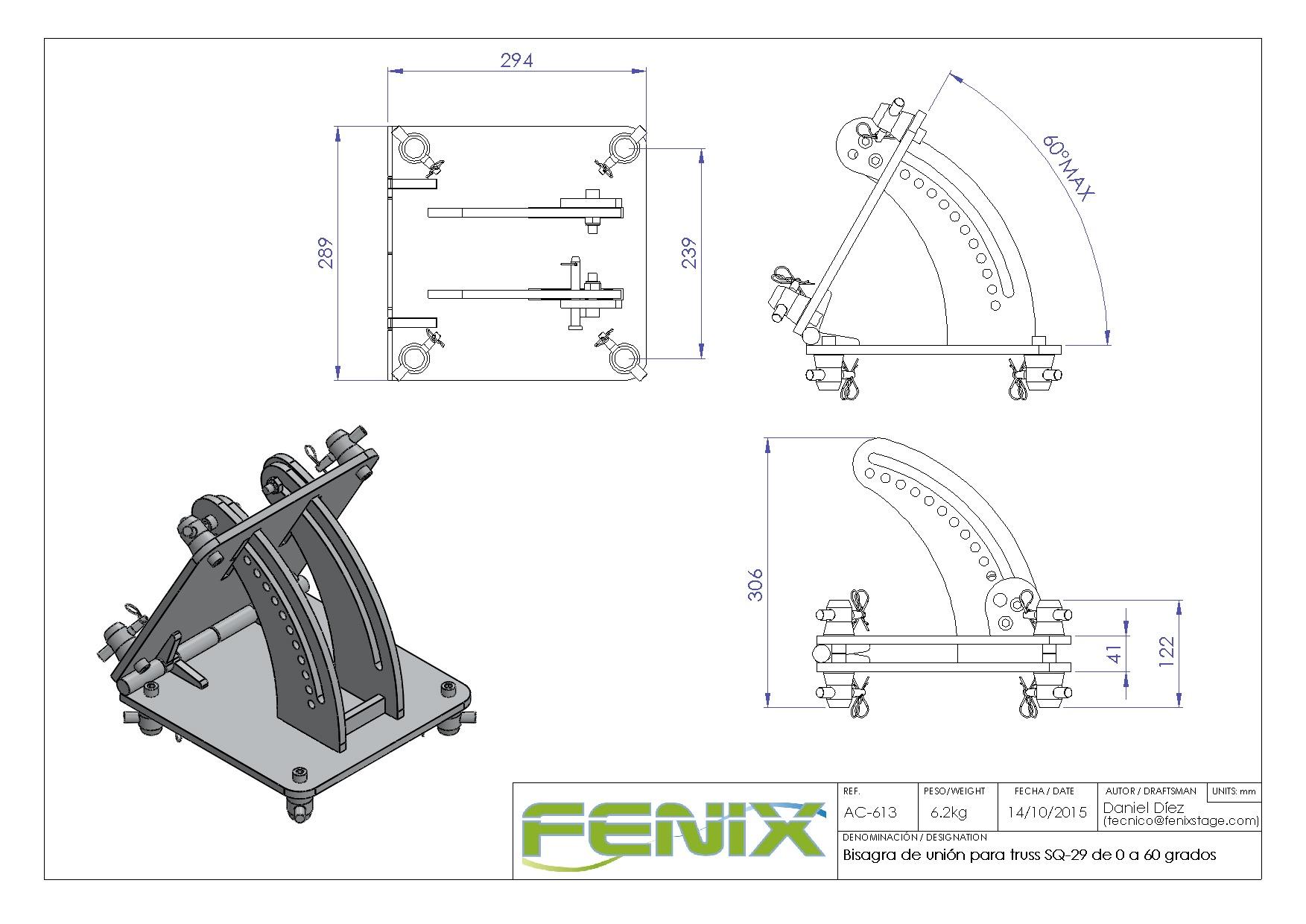 Bisagra de Unión para Truss Fenix AC-613