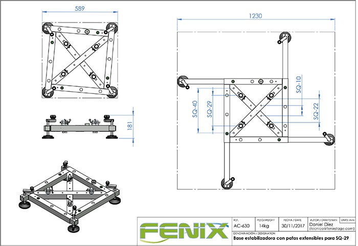 Estabilizadora con Patas Extensibles Truss Fenix AC-630