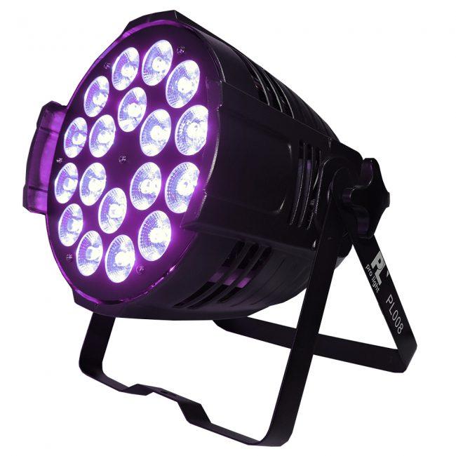 Par Led PL008 PL Pro Light 18x15w RGBWA UV